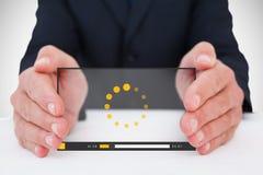 Het samengestelde beeld van zakenman met deelt 3d uit Stock Afbeeldingen