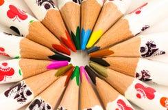 Het samenkomen van kleuren Stock Afbeelding
