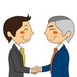 Het samenkomen van zakenlieden vector illustratie