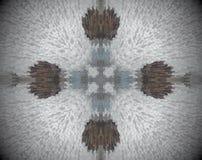 Het samenvatting uitgedreven kruis van de mandala 3D illustratie royalty-vrije illustratie