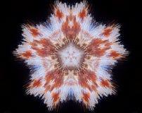 Het samenvatting uitgedreven pentagoon van de mandala 3D illustratie royalty-vrije illustratie