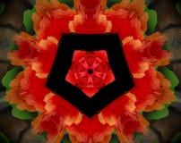 Het samenvatting uitgedreven pentagoon van de mandala 3D illustratie vector illustratie