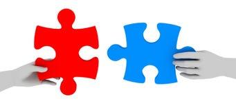 Het samenwerken aan oplossing Stock Foto