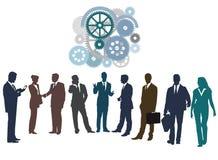 Het samenwerken of voorzien van een netwerk Royalty-vrije Stock Afbeeldingen