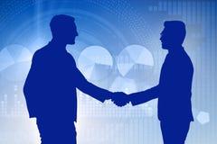 Het samenwerking tussen bedrijvenconcept met zakenlieden overhandigt het schudden vector illustratie