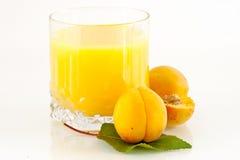 Het sap van de abrikoos Royalty-vrije Stock Afbeeldingen