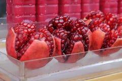 Het sap van de granaatappel Stock Fotografie