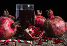 Het sap van de granaatappel Royalty-vrije Stock Foto