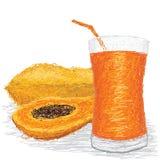 Het sap van de papaja Stock Afbeelding