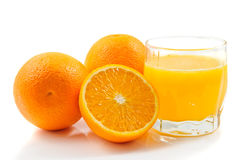 Het sap van Oranje Stock Foto