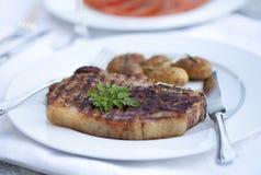 Het sappige Lapje vlees van het Rundvlees Royalty-vrije Stock Fotografie