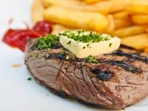 Het sappige vlees van het lapje vleesrundvlees stock foto