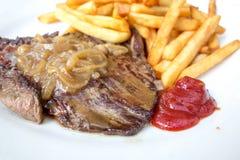 Het sappige vlees van het lapje vleesrundvlees stock afbeelding