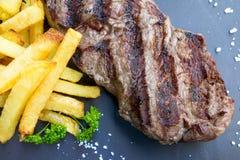 Het sappige vlees van het lapje vleesrundvlees royalty-vrije stock afbeelding