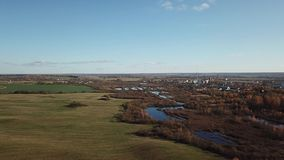 Het satellietbeeld van het de herfstlandschap stock videobeelden