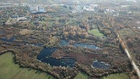 Het satellietbeeld van het de herfstlandschap stock video
