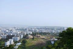 Het satellietbeeld van de Swaminarayantempel van de heuvel, Pune, Maharashtra, India royalty-vrije stock foto's