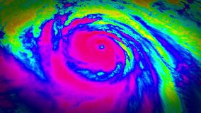 Het Satellietbeeld van de het Weersatelliet van de orkaanradar