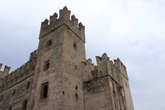Het Scalliggeri-kasteel stock afbeeldingen
