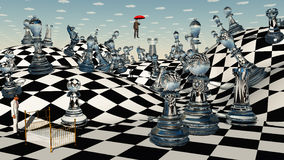Het Schaak van de fantasie Stock Afbeelding