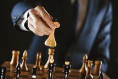 Het schaak van de handholding royalty-vrije stock afbeeldingen