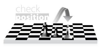 Het schaak van de koning Stock Foto's