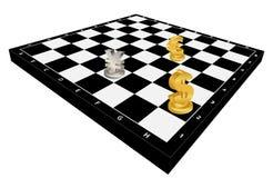 Het schaak van de munt Stock Foto