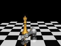 Het schaak van de overwinning Stock Foto