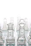 Het schaak van het glas Stock Foto