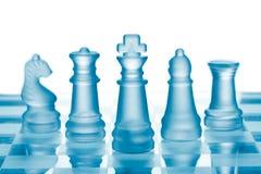 Het schaak van het glas Stock Afbeeldingen