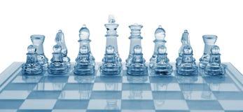 Het schaak van het glas Royalty-vrije Stock Foto's