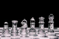 Het schaak van het glas Stock Afbeelding