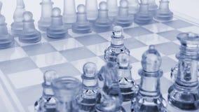 Het schaak van het glas. De eerste beweging. Royalty-vrije Stock Fotografie