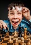 Het schaak van het Nerdspel Stock Afbeeldingen