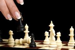 Het schaak van het spel Stock Foto's