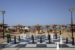 Het schaak van het strand royalty-vrije stock afbeelding