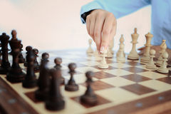 Het schaakbord is op de lijst Stock Afbeeldingen