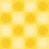 Het schaakbord van de zonnebloem Stock Afbeelding