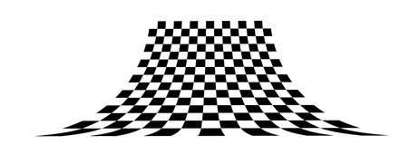 Het schaakbord van het perspectief royalty-vrije illustratie