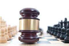 Het schaakconcept van de wet Stock Afbeeldingen