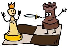 Het schaakcontrole van de krabbel Stock Foto