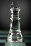 Het schaakkoning van het glas Stock Foto's