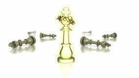 Het schaakstuk van de koning met kroon van doornen Stock Foto