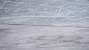 Het schaatsen de textuur van de ijsring Bevroren hockey, stock foto