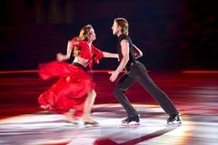 Het schaatsen paar Margarita Drobiazko & Povilas Vanagas Stock Foto