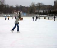 Het schaatsen ring Stock Afbeeldingen