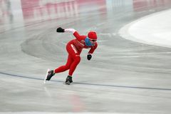Het schaatsen van de snelheid Stock Foto's