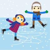 Het schaatsen van het ijs vector illustratie