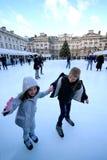 Het schaatsen van het ijs Royalty-vrije Stock Afbeelding
