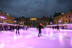 Het schaatsen van het ijs Stock Foto